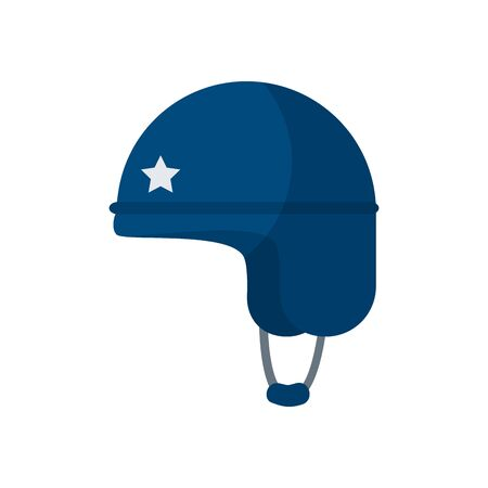 helmet flat style icon design, Military armed forces patriotic american patriotism army war and service theme Vector illustration
