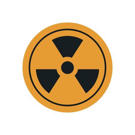 nuclear symbol icon over white background, flat style, vector illustration Vecteurs
