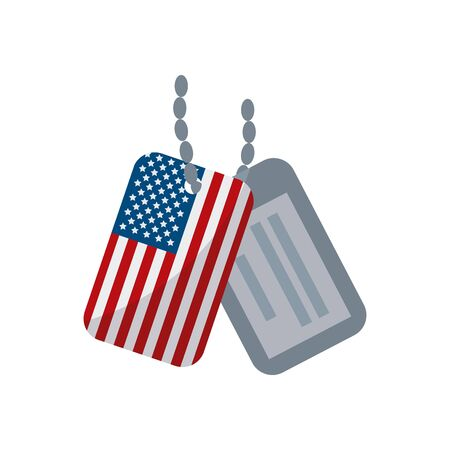 Usa sodier plates flat style icon design, United states america independence day nation us country and national theme Vector illustration