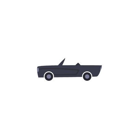 Roadster car vehicle fill style icon design, Transportation travel trip urban motor speed fast and driving theme Vector illustration
