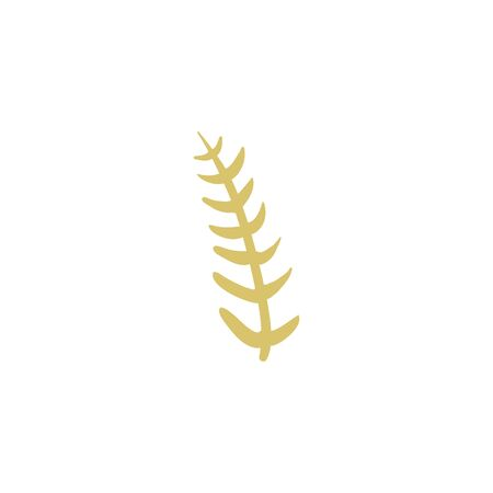 Isolated natural leaf fill style icon design of Floral nature plant garden ornament botany decoration and life theme Vector illustration