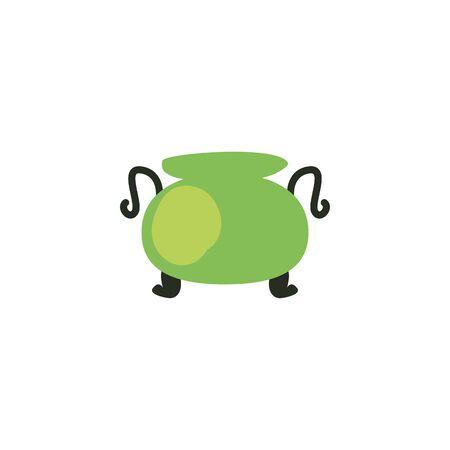 Bowl fill style icon design, Saint patricks day ireland celebration fortune irish natural and lucky theme Vector illustration