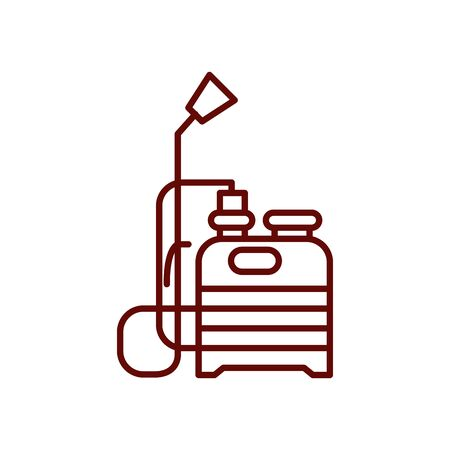 fumigation tool icon over white background, line style, vector illustration