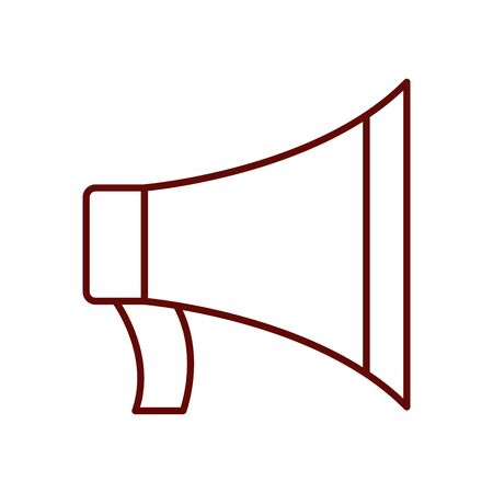 megaphone icon over white background, line style, vector illustration