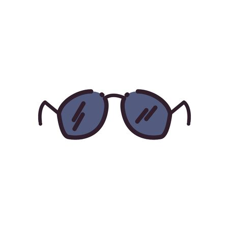 Glasses fill style icon design, Fashion style accessory eyesight optical lens view modern sight and eye theme Vector illustration