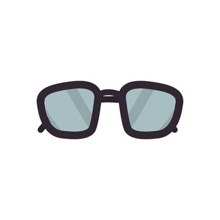 Glasses flat style icon design, Fashion style accessory eyesight optical lens view modern sight and eye theme Vector illustration 向量圖像