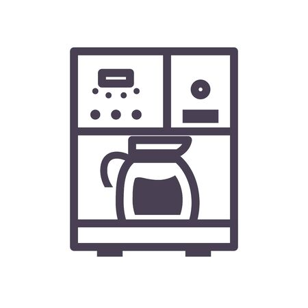 tea or coffee kettle over machine gradient style icon design, kitchen cook eat food restaurant home menu dinner lunch cooking and meal theme Vector illustration Illustration