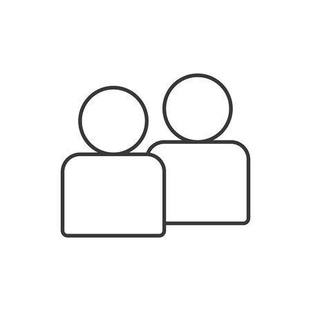 Avatars line style icon design of Person profile social communication human user partnership member and figure theme Vector illustration