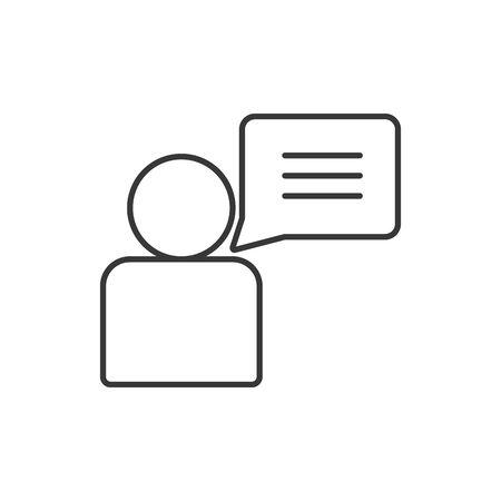 Avatar and bubble line style icon design of Person profile social communication human user partnership member and figure theme Vector illustration Ilustração