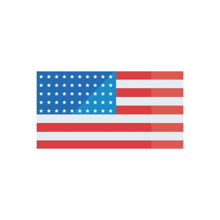 Usa flag fill style icon design, United states america independence day nation us country and national theme Vector illustration