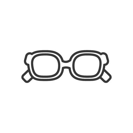 Glasses line style icon design, Fashion style accessory eyesight optical lens view modern sight and eye theme Vector illustration