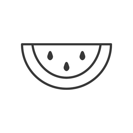 watermelon line style icon design, Fruit healthy organic food sweet and nature theme Vector illustration