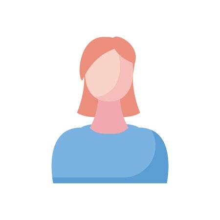 Avatar woman fill style icon design, Girl female person people human and social media theme Vector illustration Standard-Bild - 143291757