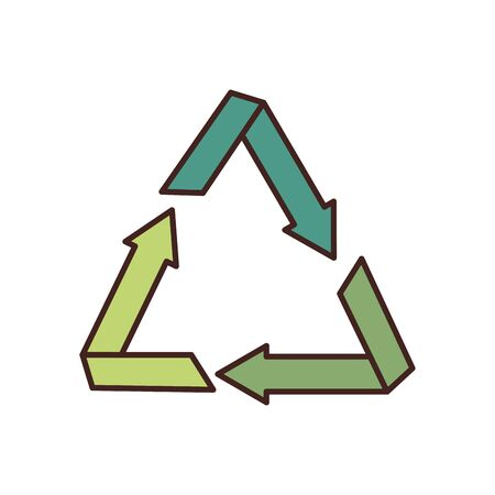 Recycle fill style icon design, Ecology eco save green natural organic environment protection and care theme Vector illustration