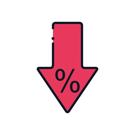Design Bank Sale.Sale Arrow Line Fill Style Icon Design Of Shopping Commerce Market