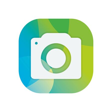 Camera device block flat style icon design, Gadget technology photography equipment digital photo focus and electronic theme Vector illustration Banque d'images - 143595152