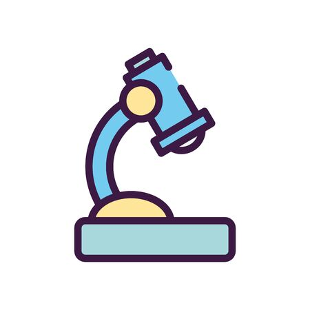 microscope icon over white background, line color style, vector illustration