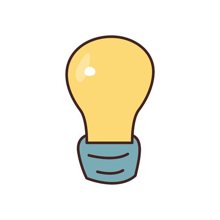Light bulb fill style icon design, Energy power technology electricity illumination and innovation theme Vector illustration 向量圖像