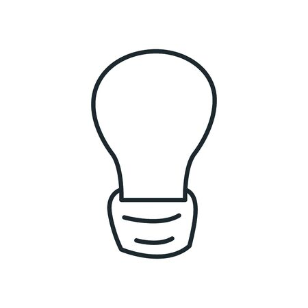 Light bulb line style icon design, Energy power technology electricity illumination and innovation theme Vector illustration 向量圖像