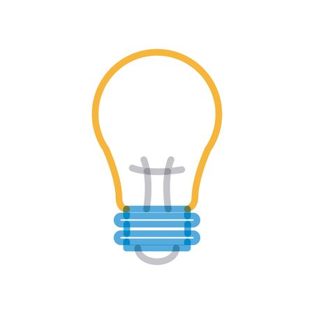 Light bulb multiply line style icon design, Energy power technology electricity illumination and innovation theme Vector illustration