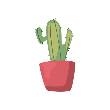 Cactus flat style icon design, Plant desert nature tropical summer mexico and western theme Vector illustration Ilustración de vector