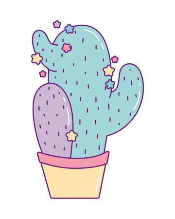 Cactus design, Plant desert nature tropical summer mexico and western theme Vector illustration Vettoriali