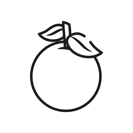 vegetables and fruits concept, orange icon over white background, line style, vector illustration Vettoriali