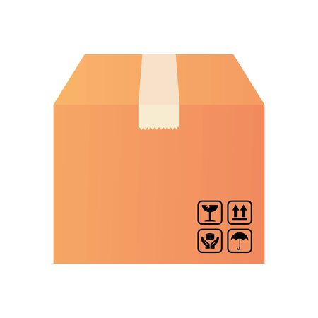 box icon over white background, detailed style, vector illustration