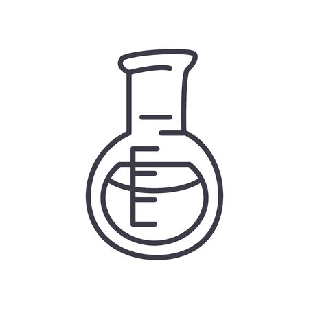 florence flask icon over white background, line style, vector illustration 矢量图像