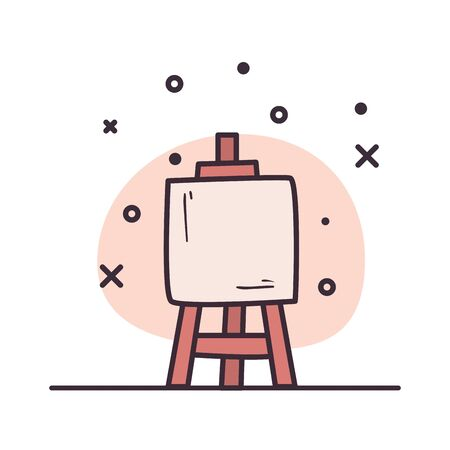 Paint board design, Art creativity tool and work theme Vector illustration Vektorgrafik