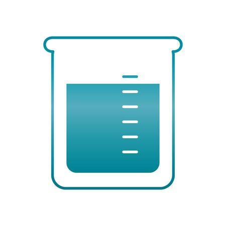 chemical beaker icon over white background, gradient style, vector illustration