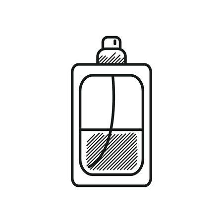 Mens perfume bottle icon over white background, line style, vector illustration