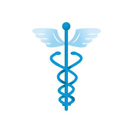 medicine symbol icon over white background, gradient style, vector illustration Illustration