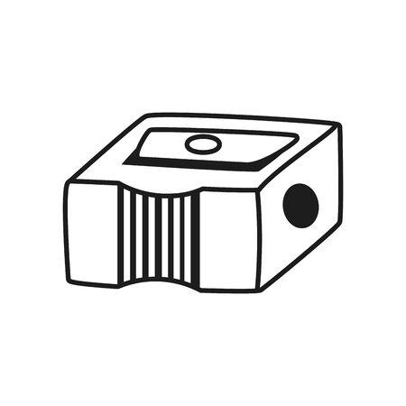 sharpener icon over white background, line style, vector illustration