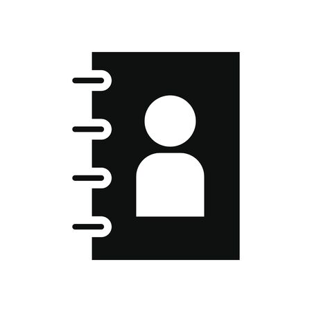 phonebook icon over white background, silhouette style, vector illustration Zdjęcie Seryjne