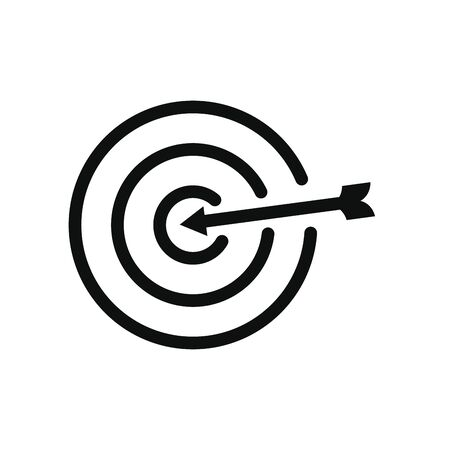 target icon over white background, line style, vector illustration Imagens