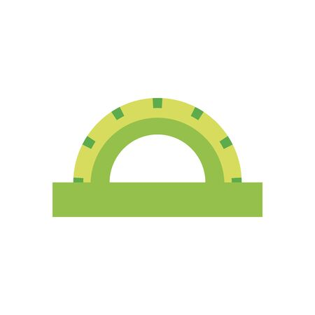 Ruler flat style icon design, Instrument tool work measurement lenght object inch long and distance theme Vector illustration