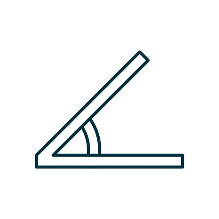 Angle line style icon design, Math finance and education theme Vector illustration