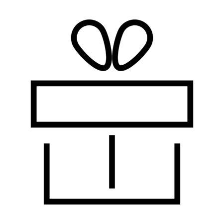 gift box icon over white background, line style, vector illustration Ilustrace
