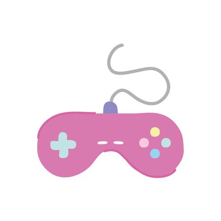 videogame control icon over white background, flat style, vector illustration