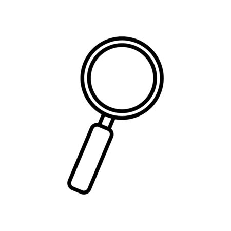 magnifying glass icon over white background, line style, vector illustration Иллюстрация