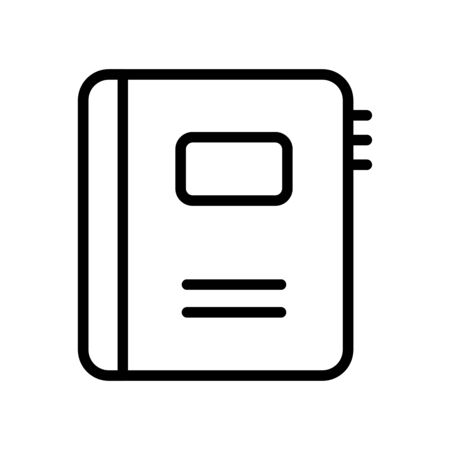 user interface concept, phonebook icon over white background, line style, vector illustration