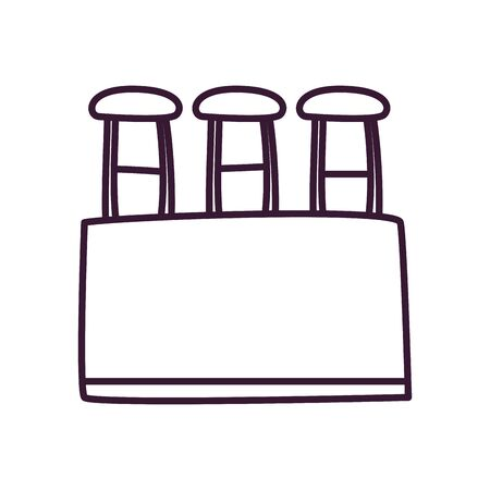 Tubes line style icon design, Chemistry science and laboratory theme Vector illustration