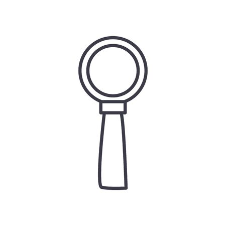 Lupe line style icon design, Tool search and magnifying glass theme Vector illustration