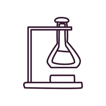 Flask line style icon design, Chemistry science and laboratory theme Vector illustration