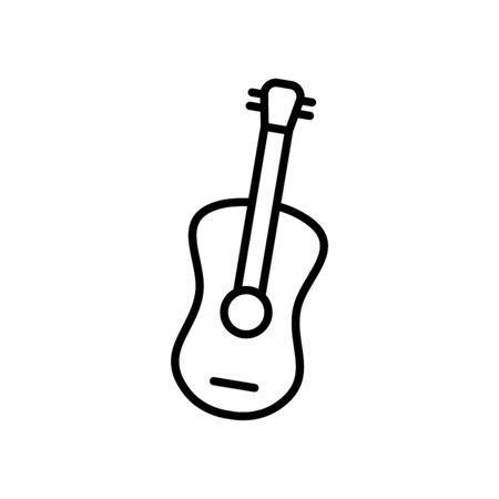 guitar icon over white background, line style, vector illustration Illustration