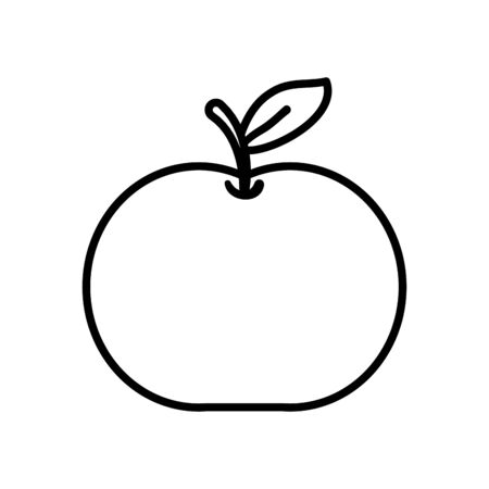 apple fruit icon over white background, line style, vector illustration Zdjęcie Seryjne - 147575464
