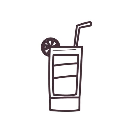 Cocktail line style icon design, Alcohol drink bar beverage liquid menu surprise restaurant and celebration theme Vector illustration Ilustracja