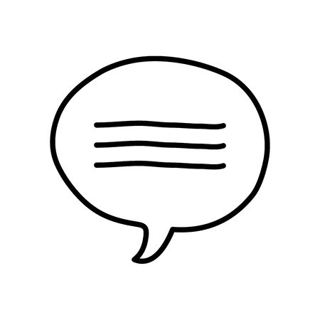 communication bubble icon over white background, line style, vector illustration Иллюстрация