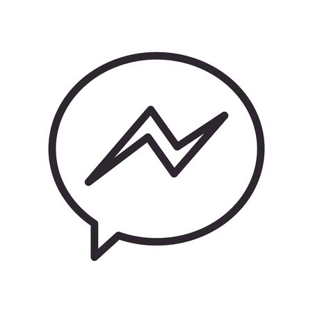 messenger line style icon design, Social media multimedia communication and digital marketing theme Vector illustration Иллюстрация